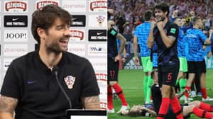 """Vedran Corluka Asked To Stop For English Press, Says """"It's Not Coming Home"""" And Keeps Walking"""