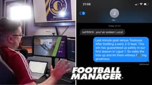 Man Wakes Up Baby After Celebrating Vital Win On Football Manager, His Wife Has Perfect Response
