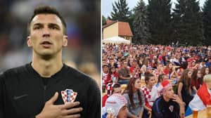 Mario Mandzukic Got The Beers In For Fans Watching Croatia-Russia Back Home