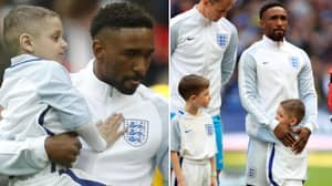 Remembering When Bradley Lowery Led Out The England Team With Jermain Defoe