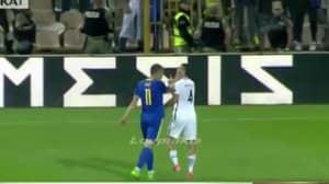 WATCH: Roma Teammates Dzeko And Manolas Kick Off A Mass Brawl