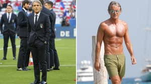 53-Year Old Roberto Mancini Is Absolutely Ripped To Shreds