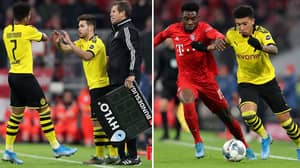 Jadon Sancho Subbed Off After 36 Minutes For Not 'Being Good Enough'