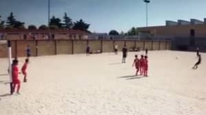 WATCH: Cristiano Ronaldo's Son Scores Another Net-Busting Free-Kick