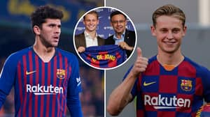 Carles Alena Selflessly 'Gives Up No 21 Shirt' For Frenkie De Jong To Honour His Late Grandad