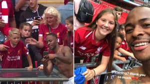 Man City's Raheem Sterling Stayed Behind After Final Win To Take Selfies With Liverpool Fans