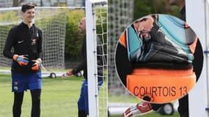Thibaut Courtois' Customised Fortnite Goalkeeper Gloves Are Something Else