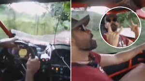 Diego Costa Driving A Rally Car Through A Dirt Track Proves He's The Craziest Footballer