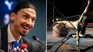 Zlatan Ibrahimovic's Statue Has Fallen Following Latest Attack By Vandals