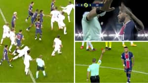 Neymar One Of Five Players Sent Off As PSG-Marseille Descends Into Chaos