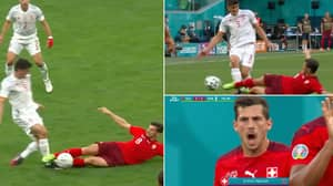 Fans Fume Over Michael Oliver's Decision To Send Off Remo Freuler Vs Spain