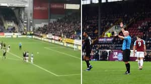 VAR Flags For Offside At The Exact Moment Matej Vydra Prepares To Take Penalty