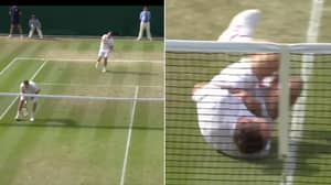 Tennis Player Rolls Around Like Neymar After Being Hit By Ball During Match