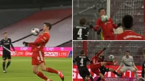 Robert Lewandowski Shows Off Sensational First Touch With His Chest Before Scoring Thumping Volley