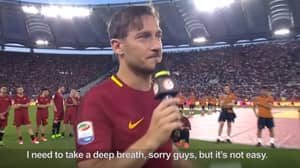 Francesco Totti's Goodbye Speech Will Bring A Tear To Your Eye