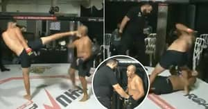 MMA Fans Shocked As Referee Lets 'Unconscious' Fighter Take Brutal Beating
