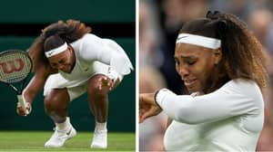 Serena Williams Breaks Down In Tears After Retiring From Wimbledon Injured