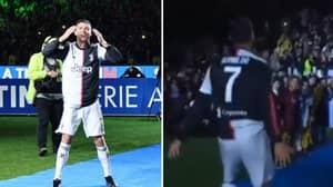 "Entire Allianz Stadium Join In With Cristiano Ronaldo's ""SIUUUUUU"" At Scudetto Title Party"