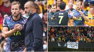Wolves And Tottenham Fans Exchange Brutal Chants About Harry Kane, It Got Nasty