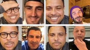Ronaldo's Instagram Live Featured David Beckham, Luis Figo, Iker Casillas And Roberto Carlos