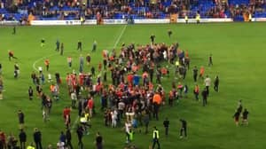 Liverpool Fans Invade The Pitch After Beating Tranmere In Pre Season Friendly