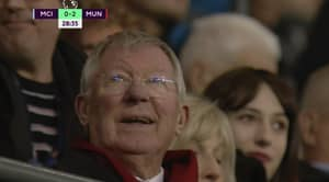 Sir Alex Ferguson Smiled After Manchester United Scored Twice Against City