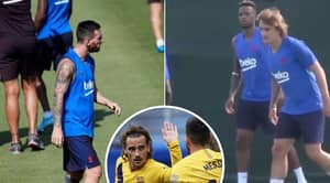 Lionel Messi And Antoine Griezmann Get Into Training Ground Bust-Up