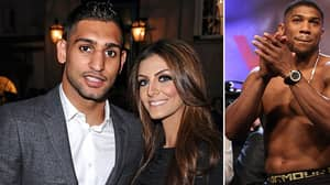 Amir Khan Uploads Screenshots Accusing Anthony Joshua Of Messaging His Wife