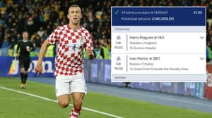 If Ivan Perisic Scores From Outside The Area, Punter Will Win £140,000 Bet