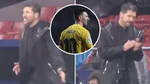 When Lionel Messi's Goal Against Atletico Madrid Was So Good Diego Simeone Had To Applaud