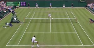 WATCH: Nick Kyrgios Hits Early Wimbledon Shot Of The Tournament Contender