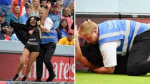 Mum Of Famous YouTuber Invades Cricket World Cup Final To Promote Porn Site
