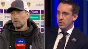 Jurgen Klopp Slams Gary Neville As The Pair Engage In Heated Super League Argument