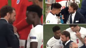 New Footage Shows Saka, Rashford & Sancho's Elite Reaction To Being Asked To Take A Penalty