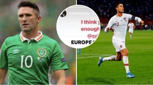 Cristiano Ronaldo Shuts Down Robbie Keane After Being Teased About His European Qualifiers Goals Record