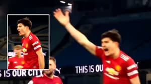 Video Of Harry Maguire Being Vocal Vs. Man City Shows His Leadership Quality