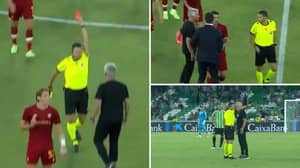Jose Mourinho Sent Off In A Pre Season Friendly After Coming On The Pitch