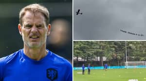 A Plane Has Flown Over Netherlands Training Ground With Message To Frank De Boer About His Tactics