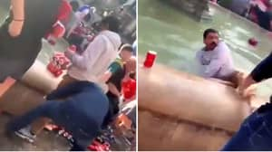 Liverpool Fan Filmed Pushing Locals Into Fountain In Shocking Footage