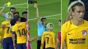 What Antoine Griezmann Said To The Referee To Receive Second Yellow Card