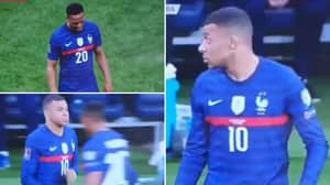 Anthony Martial Refuses To Shake Kylian Mbappe's Hand During Substitution