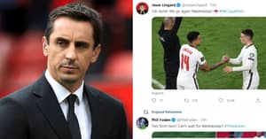 Gary Neville Slams 'Not Authentic' England Players For Hiding Behind Social Media Teams