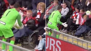 Jerzy Dudek Stops AC Milan Legends Game To Play Football With Disabled Fan