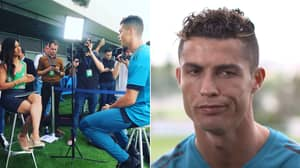 Cristiano Ronaldo's Response To Reporter When She Compares Him To Mo Salah Is Perfect