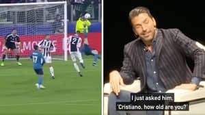 Gianluigi Buffon Remembers The Conversation He Had With Cristiano Ronaldo After Overhead Kick