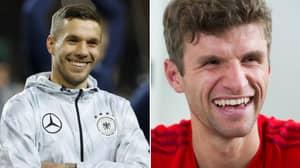 Thomas Muller Has A Typically Hilarious Response To Lukas Podolski's Screamer