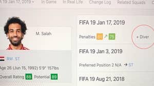 Mo Salah Has A Diver Trait On FIFA 19