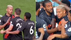 Several Everton Players Had To Beg Richarlison To Give Up Penalty After Grabbing Ball