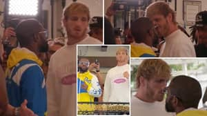 Floyd Mayweather And Logan Paul Engage In Long, Heated Face-Off Ahead Of Exhibition Showdown