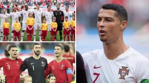 Why Cristiano Ronaldo Stood Sideways For Portugal National Anthem Ahead Of Euro 2020 Opener